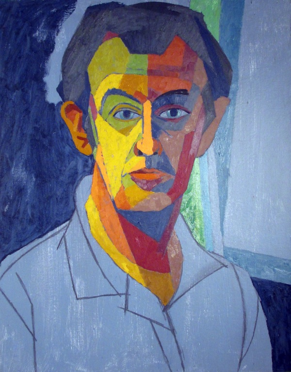 Self-portrait of artist Easton Pribble at the MWPAI.