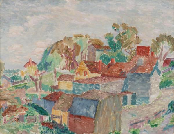George Of painting of Houses Westchester, part of the collection of the MWPAI.