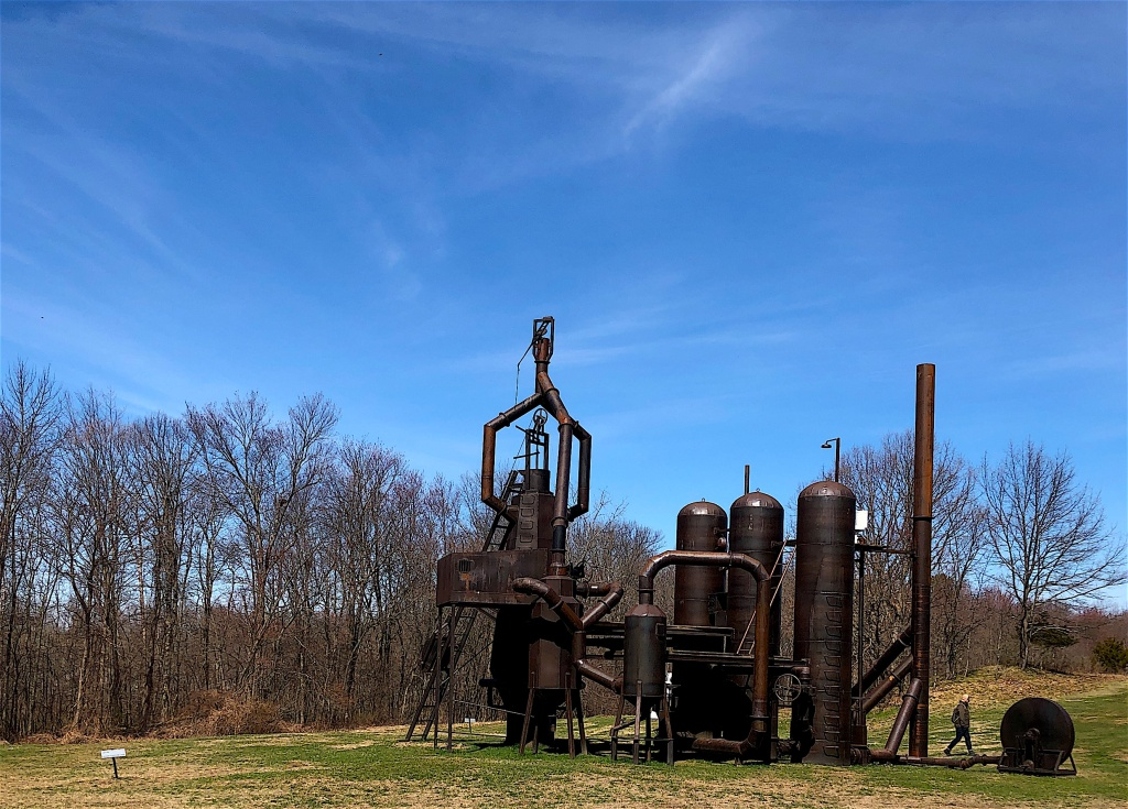 "Atelier Van Lieshout ""Blast Furnace"" sculpture at Art Omi."