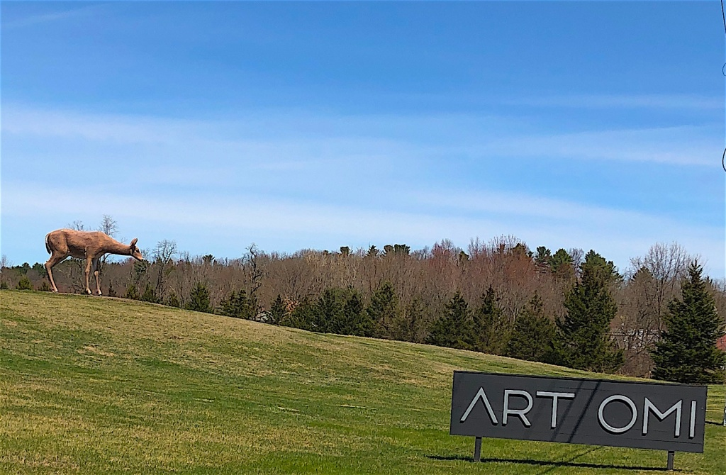 Grounds of Art Omi with Deer sculpture by Tony Tasset..