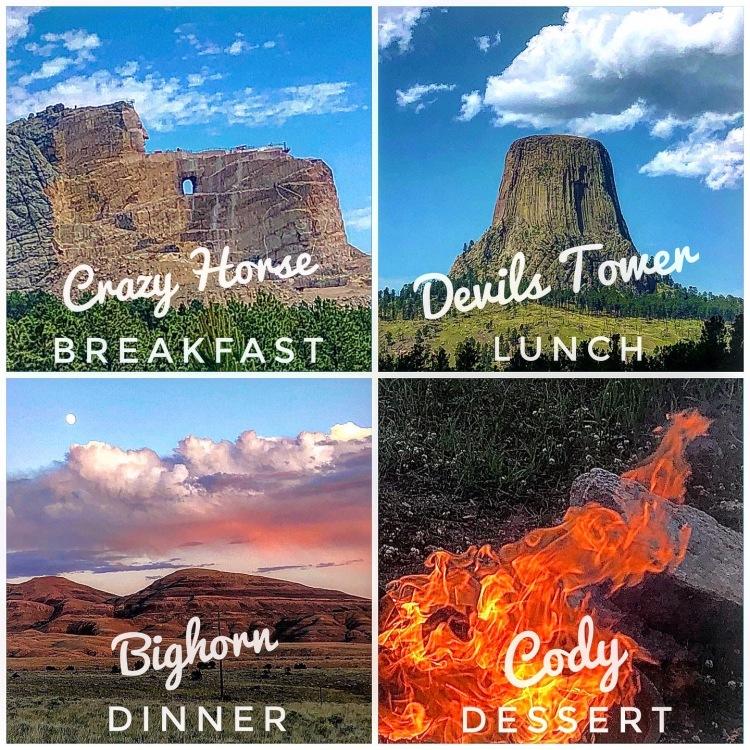 Crazy Horse Monument, Devils Tower, Bighorn & Cody Wyoming.