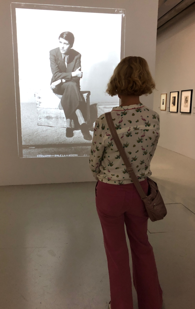 Female visitor at Centre Pompidou.